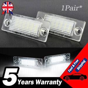 2Pcs LED Licence Number Plate Lights For VW Transporter T5 Caddy Touran Multivan
