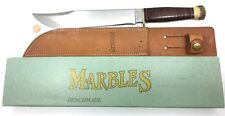 "Marbles Benchmade Trailmaker Knife STAG 10"" MSA 1992 + Sheath & Box 1176-MTN"