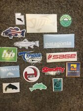 16 Fly Fish Fishing Stickers! Free Fly Simms Scotty Sage Orvis Typhoon Bone Fish