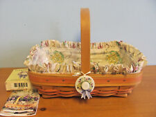 Longaberger 2000 Mother'S Day Early Blossoms Basket- Liner, Protector And Tie On