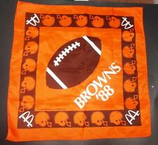 McDonald's 1988 NFL Cleveland Browns Promotional Bandanna Scarf