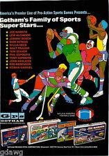 1971 ADVERT GPS Gotham Toy Games Lew Alcindor Joe Namath Phil Esposito Hockey
