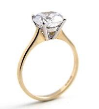 Engagement Ring 2ct Solitaire Diamond-Unique 9ct Gold