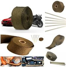 Car Motorcycle Exhaust Pipe Header Heat Wrap Insulation Anti-hot Noise Reduction