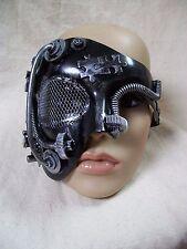 Steampunk Eye Mask Industrial Futuristic Robot Apocalyptic Warrior Doom Cyborg