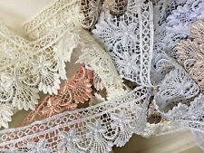 """~Bows Ribbon and Lace~55mm/2.25"""" Stunning Guipure Lace Trim Select Shade/ Length"""