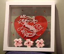 Traditional 1st paper / 4th flower wedding anniversary gift. Handmade rose