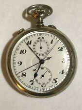 WOW! LeCoultre Guinand LIP Rattrapante Split Chronograph Pocket Watch Accurate