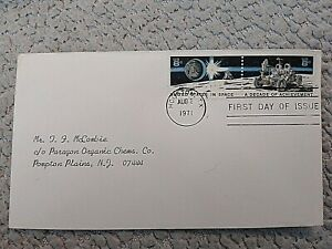 USA FIRST DAY COVER 1971 UNITED STATES IN SPACE STAMP