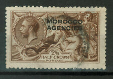 Great Britain Postage Stamps Overprinted MOROCCO AGENCIES, SEAHORSES, 217a, 223