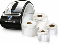 DYMO LabelWriter 450 Super Bundle - FREE Label Printer with 4 rolls of Shipping,