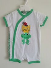 NWT Boy's Sz: 4-6Months 2Pack 100%Cotton Short Sleeve Bodysuit, Green, By H&M