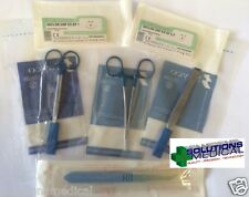 SUTURE TRAINING KIT COMPLETE WITH INSTRUMENTS & STERILE SUTURES USP 5 & 6 K2