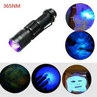 395/365 nM LED Light Flashlight UV Blacklight Inspection Lamp Torch Ultra Violet