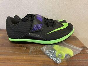 Nike High Jump Elite Track & Field Black Green 806561-035 Men's Size 10.5