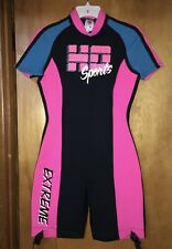 HO SPORTS EXTREME SHORTY WOMEN'S WETSUIT SURFBOARDING SIZE 12 Hot Pink Black