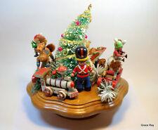 1983 Schmid Musical Collectibles Wooden Music Box Toy Land Christmas Decor