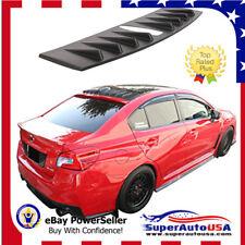 For FIT15-17 Subaru WRX STI Matte Black Generator Roof Spoiler Shark Fin