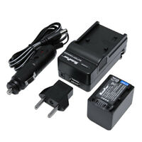 TWO BATTERIES + CHARGER Pack SONY NP-FV70 NP-FV30 FV50 2100mAh Camera Battery X2