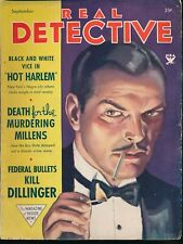 REAL DETECTIVE Sept. 1934 Pulp True Crime Magazine JOHN DILLINGER Hot Harlem