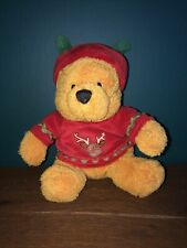Red Christmas Jumper And Hat 7� Winnie The Pooh Plush Toy - Collectible