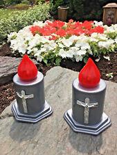 2 x LED ELEKTRO 1200Std Leuchte Religion Kerzen Grablichter Neu Grab LED neu ***