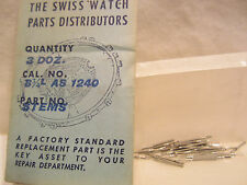 """1/4 Dozen (3) Nos """"New Old Stock"""" Stems for As (A Shield) 1240 Movement"""