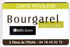 PIAF PARKING CARTE / CARD .. 20MN GRENOBLE BOURGAREL OPTIC 2000 MAGNETIQUE