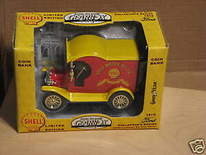 1996 GEARBOX TOY (SHELL)1912 FORD CAR DIE-CAST BANK. NIB