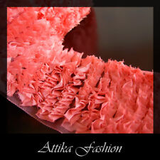Coral Pink --- French Ruffled Trim *Per yard* *Very wide*