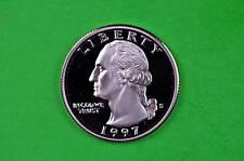 1997-S Deep Cameo Washington US GEM  Proof Silver  Quarter(90% Silver)