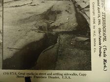 Stereoview Stereoscope Card Earthquake Crack Sidewalk San Francisco Reprint 1978