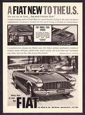 "1964 Fiat 1500 Spider photo/art ""New to the U.S."" vintage promo print ad"