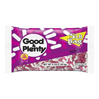 GOOD & PLENTY Licorice Candy- 80 Ounce (Pack of 1) Black Licorice, 80 oz (1 pk)