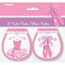 Pink Ballerina 8 Ct Note Pads Birthday Party Favors Dance Recital