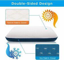 Dual Option Cooling-Gel Memory Foam Pillow Deep Sleep Hypoallergenic s