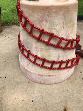 Vintage 84� Red Wood Bead Christmas Tree Garland