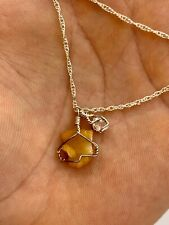 Travertine Druzy & Herkimer Diamond Pendant