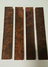 "Burled Highly Figured  Crotch Walnut 4pcs. 1"" X  2""  X 12"" Craft Wood. Blank"