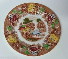 Vintage ENOCH WOOD & SONS WOOD WARE ENGLISH SCENERY PLATE ENGLAND WOODS