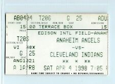 Manny Ramirez home run #110, Travis Fryman 2HR ticket; Indians at Angels 4/4/98