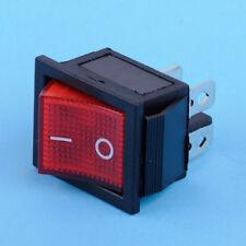 3pc On-Off 2 Position 4 Pin Power Control Boat Rocker Switch Led Light 110V-220V