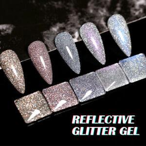 BORN PRETTY Reflective Glitter Gel Nail Polish Auroras Holographic Soak Off