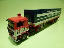 TEKNO HOLLAND VOLVO F12 TURBO TRUCK+TRAILER - PLOEGER TRANSPORT - RED 1:50 - VG