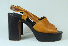 Lauro Righi vintage plateau sandali ORIG. 70er Hippie era Plateau Scarpe Mis. 37