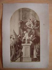 Estampe La Vierge en Majesté PAOLO VERONESE Paolo Caliari Sainte Famille  Saints