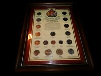 Framed Stamp,FRAMED CANADIAN 125th PROVINCE & TERRITORY QUARTERS COLLECTION,1992