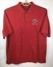 New listing Walter Hagen Hydro Dri Mens Polo Golf Shirt Large L Red Cotton/Polyester SS EUC