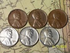 1943/44--P,D&S @  6- (Better Grade) Lincoln Wheat Pennys (From rolls)