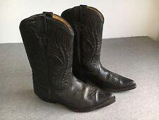 SANCHO Cowboy Boots Black Leather Spain Western Men's EURO 45 USA 11.5 EUC